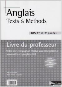 Anglais BTS : Textes et méthodes Livre du professeur