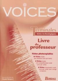 Anglais Terminales séries technologiques Voices : Livre du professeur