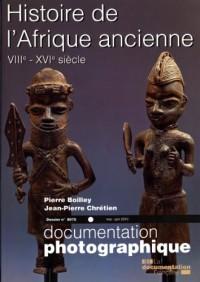 Histoire de l'Afrique ancienne, VIIIe-XVIe siècle (Dossier N.8075)