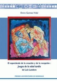 El espectaculo de la creacion y de la recepcion : Juegos de la edad tardia de Luis Landero
