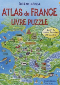 Atlas de France : Livre puzzle
