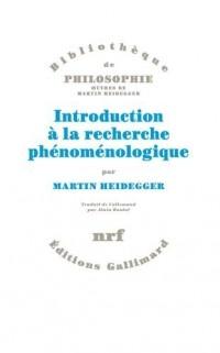 Introduction à la recherche phénoménologique