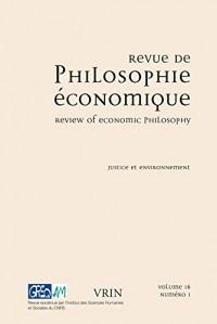 Justice et environnement (Revue de Philosophie Économique 16 (2015) /1