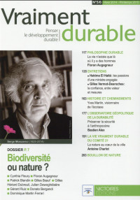 Vraiment Durable N°5 Biodiversité ou nature ?