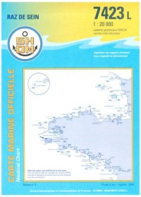 Carte marine : Île de Sein, pointe du Raz