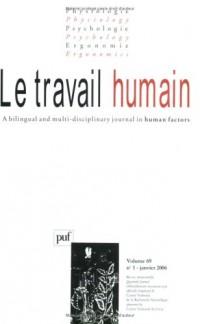Le travail humain, N° 1 - Volume 69 :