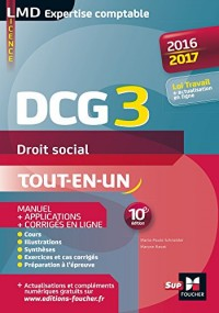 Dcg 3 Droit social : Manuel