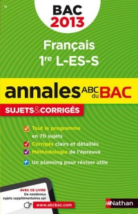 Annales Bac 2013 Français Premier l Es S Corriges N18