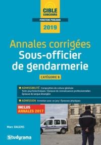 Annales corrigées sous-officier de gendarmerie