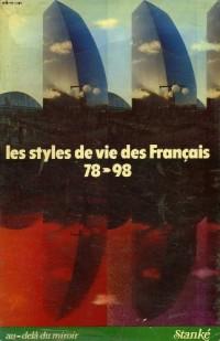 Les styles de vie des français, 1978-1998