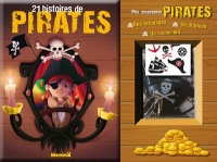Coffret - 21 histoires de pirates (fond bois)