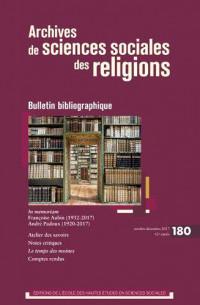 Archives de Sciences Sociales des Religions 180