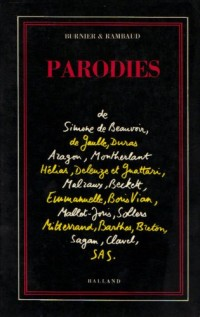 Parodies de Simone de Beauvoir, Per Jakez Helias, Marguerite Duras (French Edition)