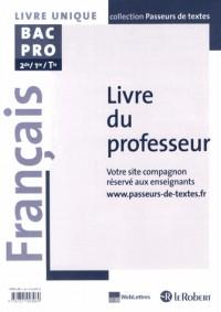 Français Bac Pro (Passeurs de Textes)Professeur 2013