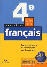 Chouette Entraînement : Français, de la 4e à la 3e - 13-14 ans (+ corrigés)