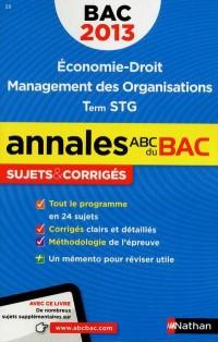 Annales bac 2013 économie droit stg corriges n15