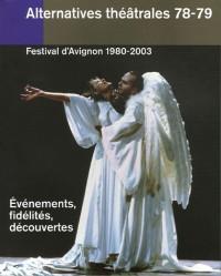 Festival d'Avignon 1980-2003