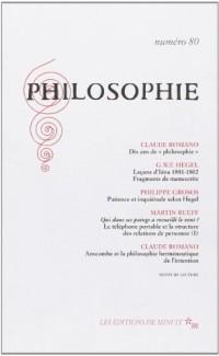 Philosophie, numéro 80