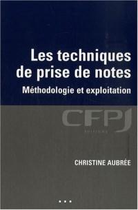 Les techniques de prise de notes : Méthodologie et exploitation