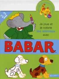 Je joue et je colorie les animaux avec Babar