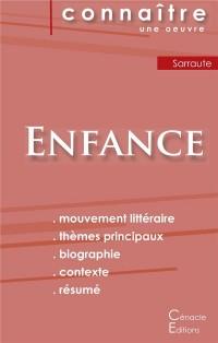 Fiche de Lecture Enfance de Nathalie Sarraute Analyse Litteraire de Reference et