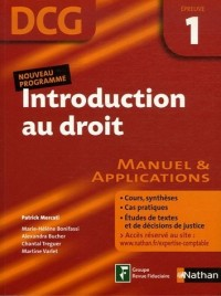 Introduction au droit Epreuve 1 - DCG - Manuel et applications