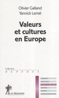 Valeurs et cultures en Europe