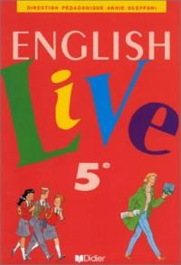 English Live : 5ème, livre de l'élève