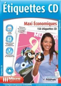 Etiquettes CD Maxi économique