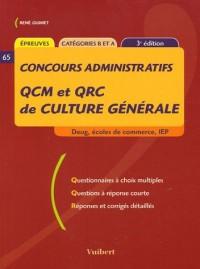 QCM et QRC de culture générale : Deug, écoles de commerce, IEP