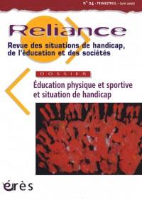 Reliance N°24 Education Physique et Sportive et Situation de Handicap