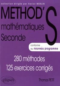Method's mathématiques seconde nouveau programme