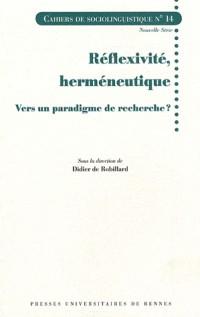 Reflexivite Hermeneutique
