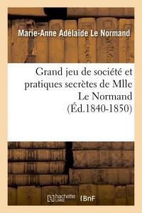 Grand Jeu de Societe  ed 1840 1850