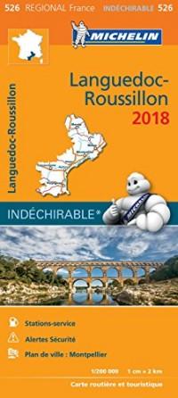 Carte Languedoc-Roussillon Michelin 2018