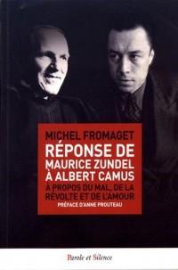 Réponse de Maurice Zundel a Albert Camus