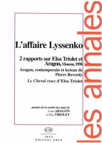 Annales de la Societe Louis Aragon et Elsa Triolet N15