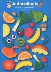 De drôles de fruits et légumes ! Bleu - Album d'autocollants - Dès 3 ans