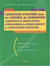 Concours d'entrée dans les centres de formation d'assistants de service social, d'éducateurs de jeunes enfants et d'éducateurs spécialisés
