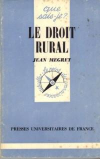 Le droit rural