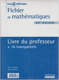 Mathématiques, BEP Tertiaire (Manuel du professeur)