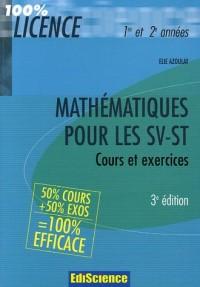 Mathématiques pour les SV-ST : 50% cours + 50% exos