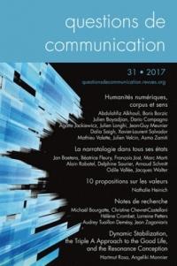 Questions de Communication, N 31/2017. Humanites Numriques, Corpus E
