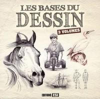 Les bases du dessin 3 volumes : Corps et portraits ; Fleurs et paysages ; Animaux, chevaux, chats...