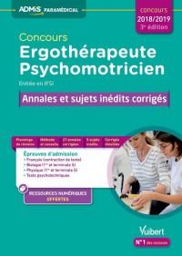 Concours Ergotherapeute et Psychomotricien Annales Sujets Inédits 3e Edt