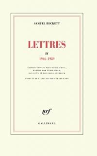Lettres IV: (1966-1989)