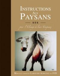 Instructions aux paysans : Pour l'élevage de leurs troupeaux