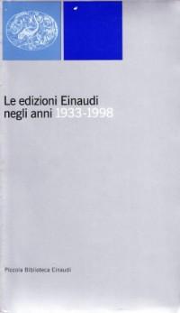 Le edizioni Einaudi negli anni 1933-1998