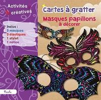 Cartes à gratter : Masques papillons