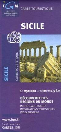 Carte touristique : Sicile